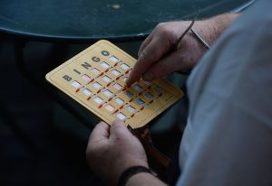 NEW YORK, NY - JUNE 5: About 300 New Yorkers gather at the Bryant Park to play 'Bingo' on June 5, 2014 in NY. People became organized on internet and registered to attend the organization. (Photo by Cem Ozdel/Anadolu Agency/Getty Images)