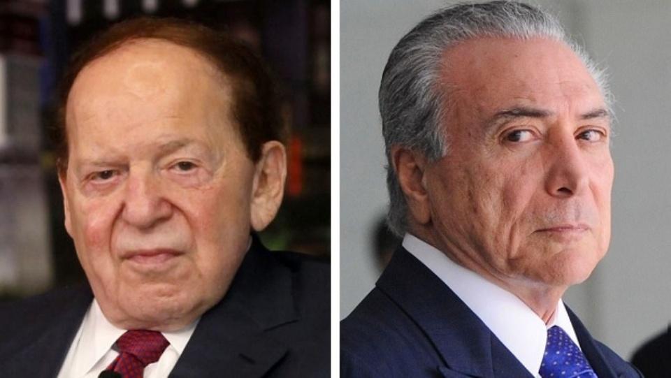 Sheldon Adelson e Michel Temer discutiram sobre jogos de azar