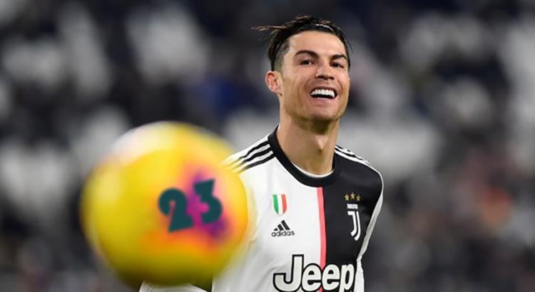 Cristiano Ronaldo adora ganharno bingo online